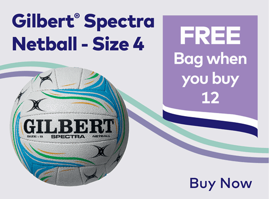 Gilbert Spectra Netball - Size 4 Pack of 12
