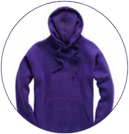 Purple Leavers Hoodie