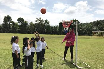 Individual Netball Drills for 4-7 Year olds