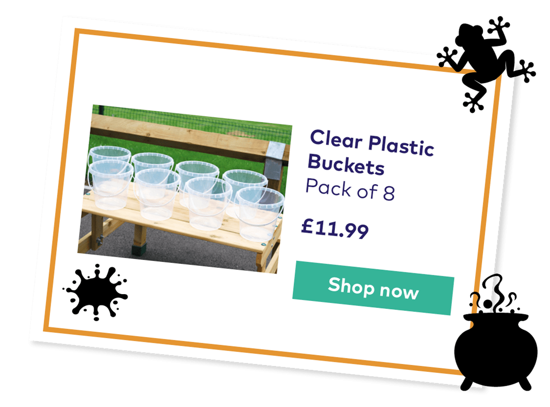 Clear Plastic Buckets Pack of eight