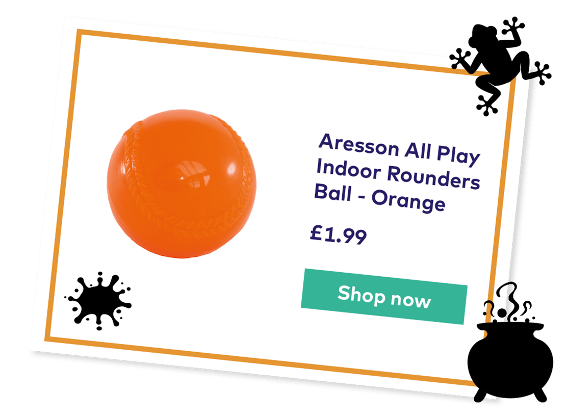 Aresson All Play Indoor Rounders Ball - Orange